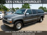 2002 Medium Charcoal Gray Metallic Chevrolet Silverado 1500 LS Crew Cab 4x4 #67340319