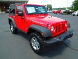 2012 Flame Red Jeep Wrangler Rubicon 4X4 #67402299