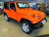 2012 Crush Orange Jeep Wrangler Sahara 4x4 #67402298