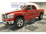 2007 Flame Red Dodge Ram 1500 Big Horn Edition Quad Cab 4x4 #67402386