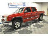 2005 Victory Red Chevrolet Silverado 1500 Z71 Crew Cab 4x4 #67402382