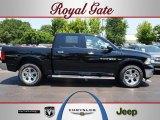 2012 Black Dodge Ram 1500 Laramie Crew Cab 4x4 #67402365