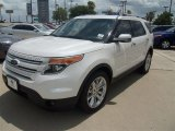 2013 White Platinum Tri-Coat Ford Explorer Limited #67429636