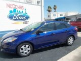 2012 Sonic Blue Metallic Ford Focus S Sedan #67429625