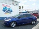 2012 Sonic Blue Metallic Ford Focus S Sedan #67429620