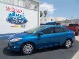 2012 Blue Candy Metallic Ford Focus SE Sedan #67429603