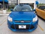 2012 Blue Candy Metallic Ford Focus SE 5-Door #67429484