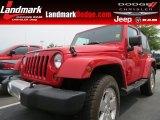 2010 Flame Red Jeep Wrangler Sahara 4x4 #67429770