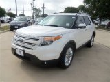 2013 White Platinum Tri-Coat Ford Explorer Limited EcoBoost #67429663