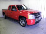2008 Victory Red Chevrolet Silverado 1500 LS Extended Cab #67494174