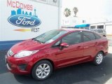 2013 Ruby Red Ford Fiesta SE Sedan #67493726