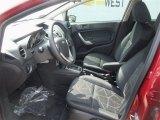 2013 Ford Fiesta SE Sedan Charcoal Black Interior