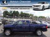 2013 Blue Topaz Metallic Chevrolet Silverado 1500 LT Extended Cab 4x4 #67494548