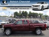 2013 Deep Ruby Metallic Chevrolet Silverado 1500 LT Extended Cab 4x4 #67494547
