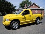 2004 Solar Yellow Dodge Ram 1500 Rumble Bee Regular Cab 4x4 #67494479
