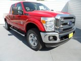 2012 Vermillion Red Ford F250 Super Duty XLT Crew Cab 4x4 #67493952