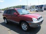 2004 Merlot Red Hyundai Santa Fe GLS 4WD #67493443