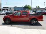 Lava Red Nissan Frontier in 2012