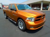 2012 Tequila Sunrise Pearl Dodge Ram 1500 Express Quad Cab #67494243