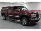 2003 Dark Toreador Red Metallic GMC Sierra 2500HD SLE Extended Cab 4x4 #67494210