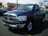 2007 Patriot Blue Pearl Dodge Ram 1500 SLT Regular Cab 4x4 #6737010
