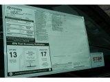 2012 Toyota Tundra Limited Double Cab 4x4 Window Sticker