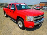 2010 Victory Red Chevrolet Silverado 1500 LT Extended Cab 4x4 #67566408