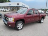 2009 Deep Ruby Red Metallic Chevrolet Silverado 1500 LT Crew Cab 4x4 #67566399