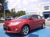 2012 Red Candy Metallic Ford Focus SEL Sedan #67566206