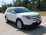 2013 White Platinum Tri-Coat Ford Explorer Limited #67594242