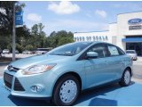 2012 Frosted Glass Metallic Ford Focus SE SFE Sedan #67593685