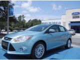 2012 Frosted Glass Metallic Ford Focus SEL Sedan #67593679