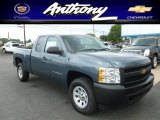 2012 Blue Granite Metallic Chevrolet Silverado 1500 Work Truck Extended Cab 4x4 #67594219