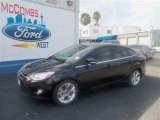 2012 Tuxedo Black Metallic Ford Focus SEL Sedan #67593628