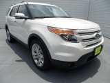 2013 White Platinum Tri-Coat Ford Explorer Limited #67593863