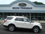 2013 White Platinum Tri-Coat Ford Explorer Limited 4WD #67593826