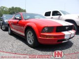 2005 Torch Red Ford Mustang V6 Deluxe Coupe #67593422
