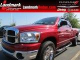 2007 Inferno Red Crystal Pearl Dodge Ram 1500 SLT Quad Cab #67593788