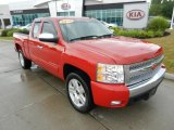 2008 Victory Red Chevrolet Silverado 1500 LT Extended Cab 4x4 #67594053