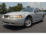 2000 Silver Metallic Ford Mustang V6 Coupe #67594028