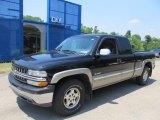 2002 Onyx Black Chevrolet Silverado 1500 LS Extended Cab 4x4 #67644637
