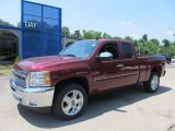 2013 Deep Ruby Metallic Chevrolet Silverado 1500 LT Extended Cab 4x4 #67644634