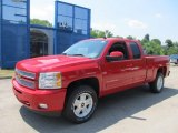2013 Victory Red Chevrolet Silverado 1500 LT Extended Cab 4x4 #67644633