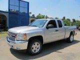 2013 Silver Ice Metallic Chevrolet Silverado 1500 LT Extended Cab 4x4 #67644631