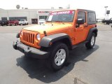 2012 Crush Orange Jeep Wrangler Sport S 4x4 #67644919