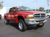 2004 Flame Red Dodge Dakota SLT Quad Cab 4x4 #67645188