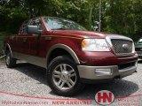 Dark Toreador Red Metallic Ford F150 in 2005