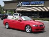 2007 Crimson Red BMW 3 Series 328i Convertible #67713260