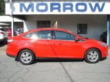 2012 Race Red Ford Focus SEL Sedan #67744752