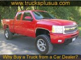 2009 Victory Red Chevrolet Silverado 1500 LTZ Extended Cab 4x4 #67745675